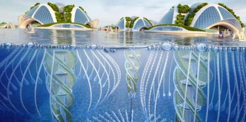 La ville sous l eau projet fou d un architecte francais